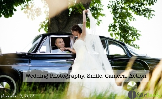 Wedding Photography. Smile. Camera. Action