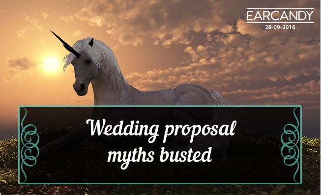 Wedding proposal myths busted