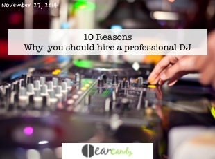 10 Reasons why you should hire a professional DJ